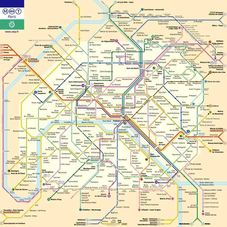 Mapa metra Paryż