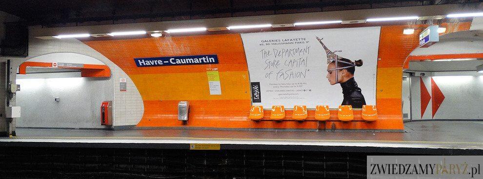 Metro w Paryżu - stacja Havre Caumartin