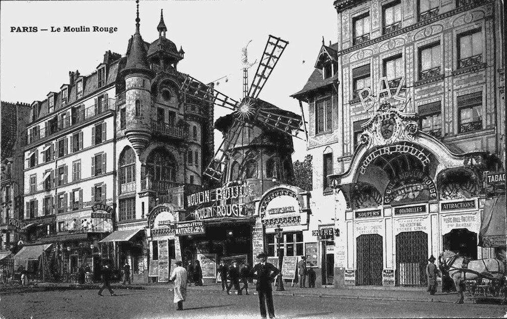 Rok 1900 - Moulin Rouge, Paryż