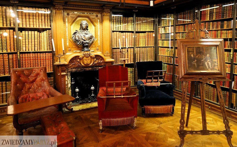 Zamek Chantilly - biblioteka