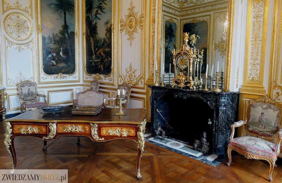 Zamek Chantilly - wnętrze