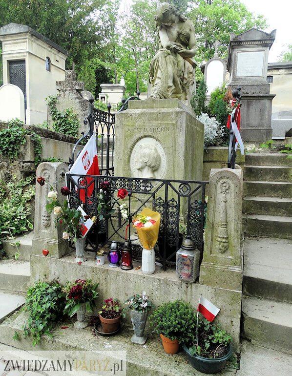 cmentarz Pere Lachaise grób Fryderyka Chopina