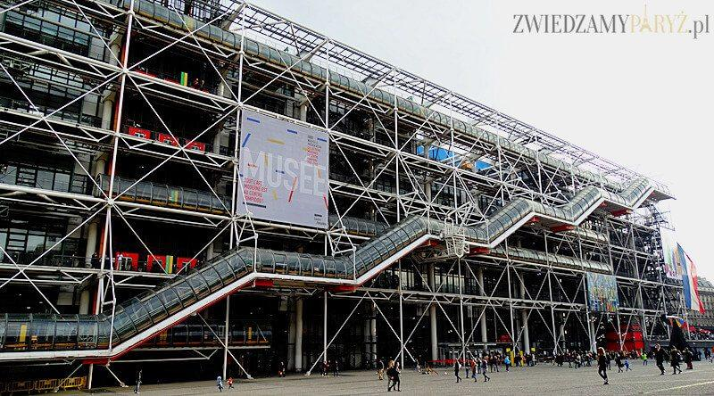 Centrum Pompidou – muzeum przewrócone na lewą stronę