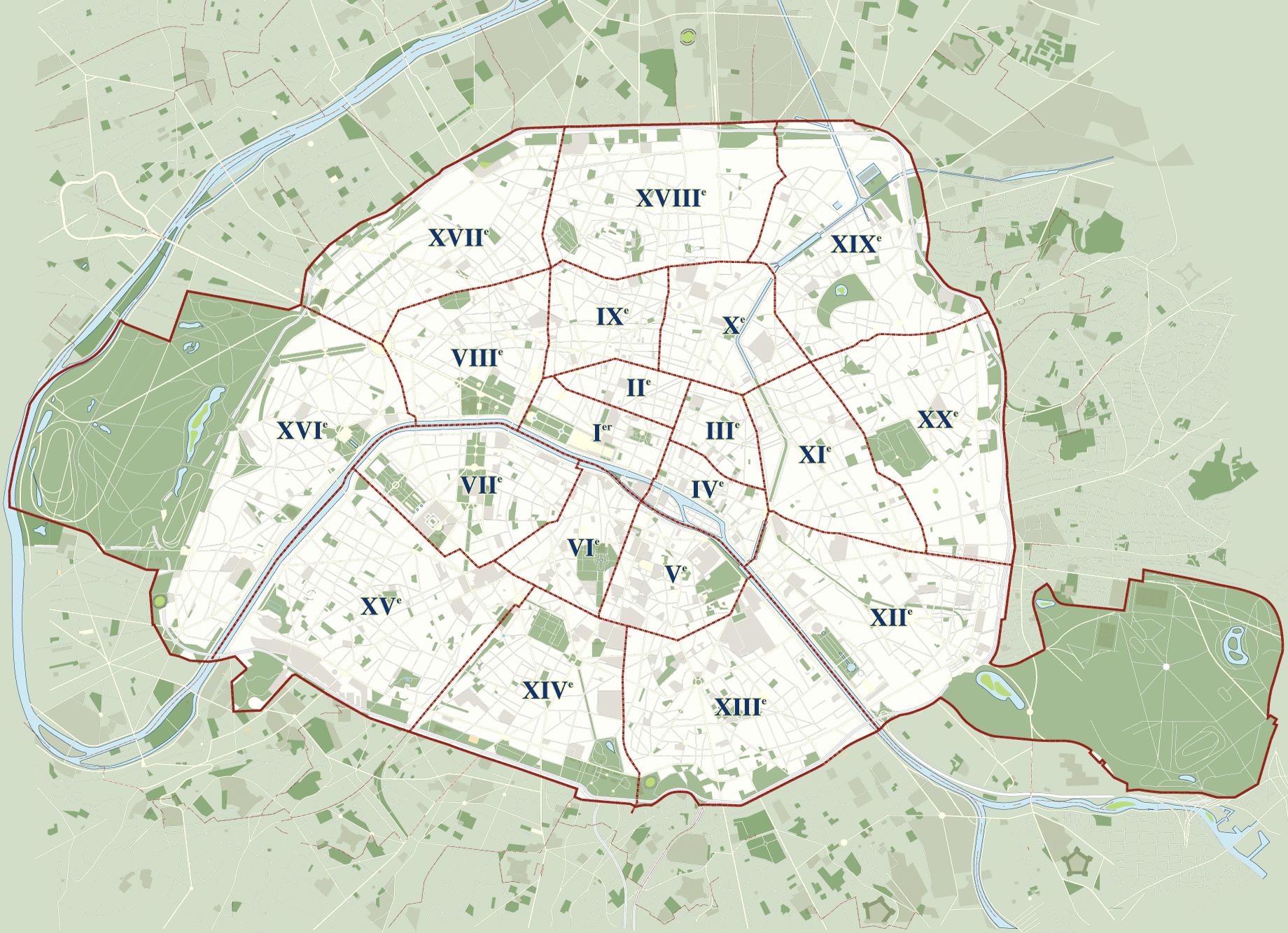 Dzielnice Paryża – Opisy dzielnic + mapa