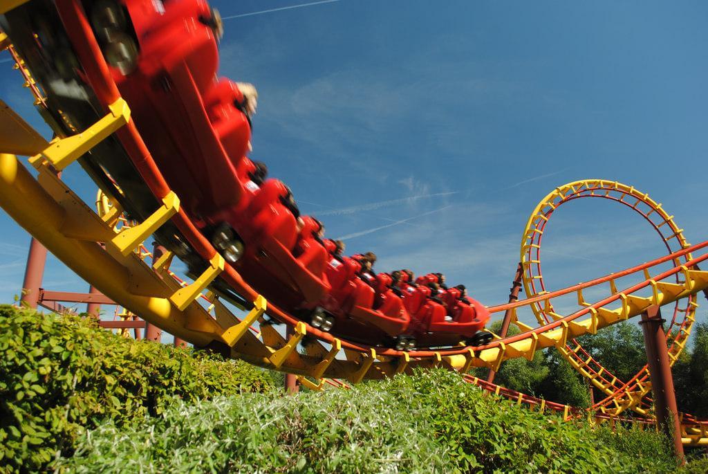 Rollercoaster w Parku Asterixa pod Paryżem