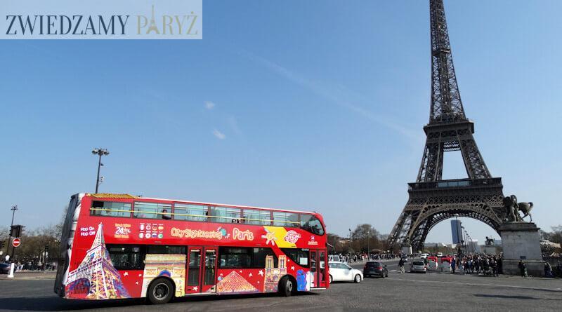 Zwiedzanie Paryża autobusem hop on hop off