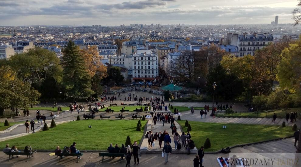 Paryż widok z Bazyliki Sacre Coeur