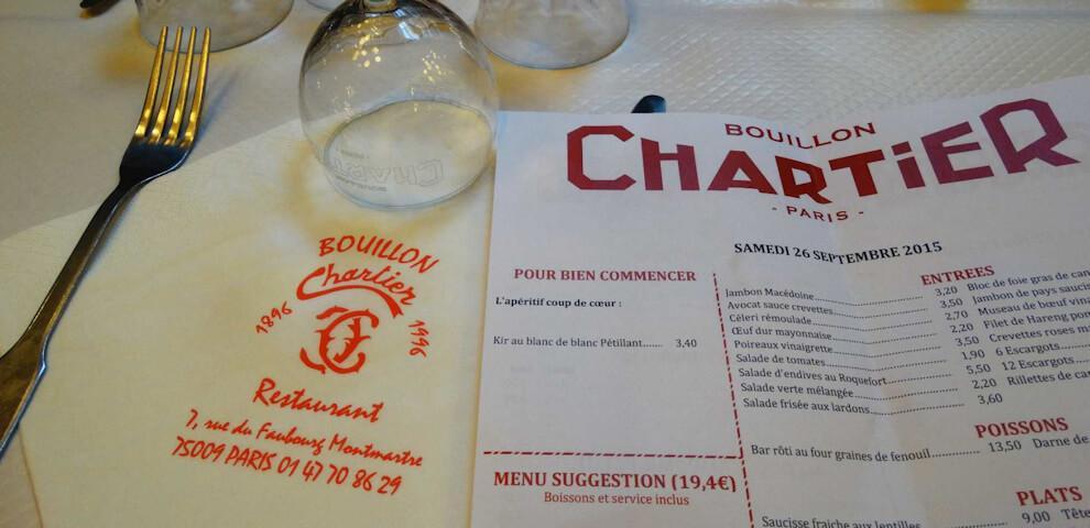 Restauracja Bouillon Chartier w Paryżu